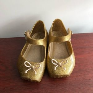 Mini Melissa Gold Shoes